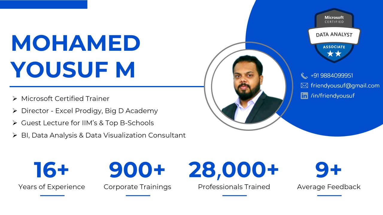 Mohamed Yousuf - Power Bi Trainer